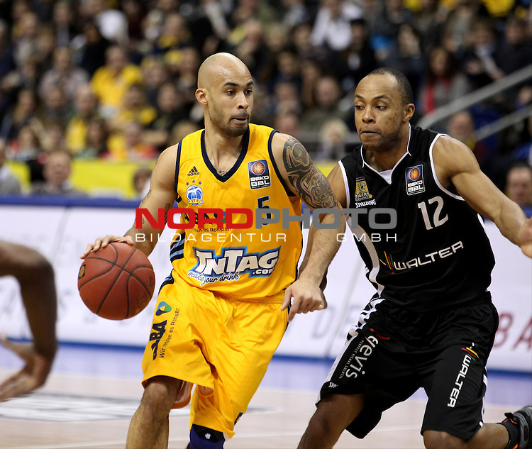25.01.2014, O2 world, Berlin, GER, 1.BBL, ALBA Berlin vs Tiger Tuebingen, im Bild Clifford Hammonds (Alba Berlin)<br /> <br />               <br /> Foto &copy; nordphoto /  Schulz