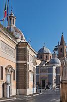 Basilica of Santa Maria del Popolo, Piazza del Popolo, Rome, Italy