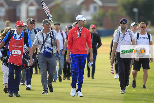 Alex Smalley (USA) on the 16th during Day 2 Singles at the Walker Cup, Royal Liverpool Golf CLub, Hoylake, Cheshire, England. 08/09/2019.<br /> Picture Thos Caffrey / Golffile.ie<br /> <br /> All photo usage must carry mandatory copyright credit (© Golffile | Thos Caffrey)