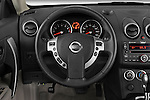 Steering wheel view of 2009 Nissan Rogue SL Stock Photo