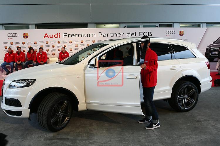 Thiago, Q7. Entrega vehiculos Audi a los jugadores del FC Barcelona.