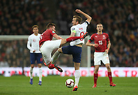 England's Harry Kane and Czech Republic's Tomas Kalas<br /> <br /> Photographer Rob Newell/CameraSport<br /> <br /> UEFA Euro 2020 Qualifying round - Group A - England v Czech Republic - Friday 22nd March 2019 - Wembley Stadium - London<br /> <br /> World Copyright © 2019 CameraSport. All rights reserved. 43 Linden Ave. Countesthorpe. Leicester. England. LE8 5PG - Tel: +44 (0) 116 277 4147 - admin@camerasport.com - www.camerasport.com