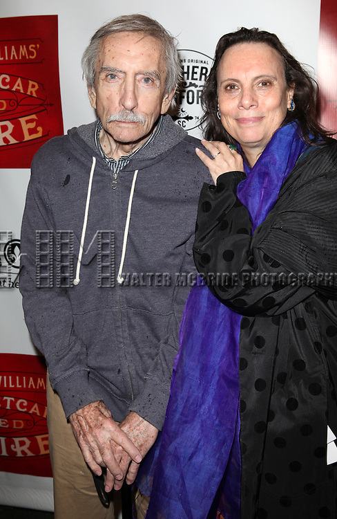 Edward Albee & Emily Mann.attending the Broadway Opening Night Performance of 'A Streetcar Named Desire' at the Broadhurst Theatre on 4/22/2012 in New York City.