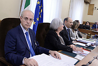 Roma, 9 Maggio 2017<br />  Il Procuratore della Repubblica del tribunale di Catania, Carmelo Zuccaro, durante l'audizione alla Commissione Parlamentare antimafia
