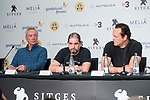 German actor Udo Kier, american director Steven Craig Zahler and american actor Vince Vaughn attends to press conference during the presentation of film 'Brawl in Cell Block 99' at Sitges Film Festival in Barcelona, Spain October 09, 2017. (ALTERPHOTOS/Borja B.Hojas)