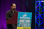 Luis Alberto Perales from the Tierra y Libertad Organization speaks at Powershift. Over six thousand young people from all over the country are converging in Pittsburgh, PA for Power Shift 2013, a massive training dedicated to bringing about a safe planet and a just future for all people. (Photo by: Robert van Waarden)