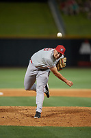 Chattanooga Lookouts relief pitcher Joel Kuhnel (38) during a Southern League game against the Birmingham Barons on May 2, 2019 at Regions Field in Birmingham, Alabama.  Birmingham defeated Chattanooga 4-2.  (Mike Janes/Four Seam Images)