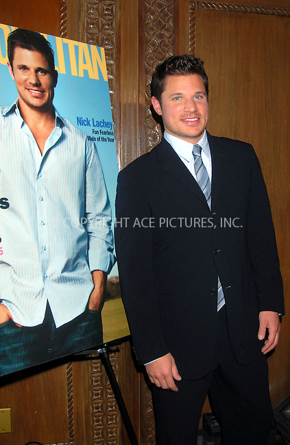 WWW.ACEPIXS.COM . . . . . ....January 22nd, 2007, New York City. ....Cosmopolitan Magazine Honors Nick Lachey as Fun Fearless Man of the Year at Cipriani. ......Please byline: KRISTIN CALLAHAN - ACEPIXS.COM.. . . . . . ..Ace Pictures, Inc:  ..(212) 243-8787 or (646) 769 0430..e-mail: info@acepixs.com..web: http://www.acepixs.com