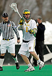 14 April 2007: University of Vermont Catamounts' Ryan Gillette, a Freshman from Lowville, NY, in action against the University of Albany Great Danes at Moulton Winder Field, in Burlington, Vermont. The Great Danes defeated the Catamounts 14-7...Mandatory Photo Credit: Ed Wolfstein Photo