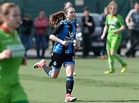 Zulte C - Club Brugge B : Dames Club Brugge B kampioen in 1ste provinciale met Angel Kerkhove<br /> Foto David Catry | Sportpix.be