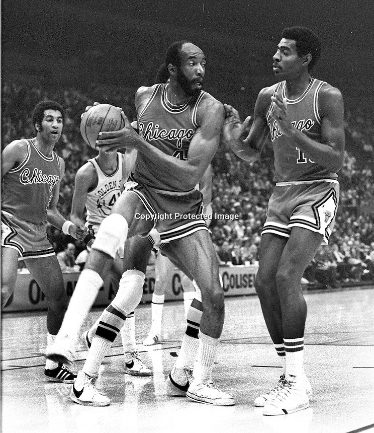 Chicago Bulls Nate Thurmond (1975 photo/Ron Riesterer)