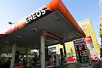 ENEOS gas station in Tokyo, Japan on December 4, 2015. Japan's largest oil refiner and wholesaler JX Holdings Inc., which operates ENEOS gas stations, is continuing talks to finalize the acquisition of competitor TonenGeneral Sekiyu by the end of this year. The companies have combined sales of 14 trillion yen ($113 billion) and plan a share swap in the latest move towards consolidating their businesses by 2017. JX Holdings operates 14,000 ENEOS gas stations and TonenGeneral operates Esso, Mobil and General brand gas stations. Together they represent around 40% of all stations in Japan. (Photo by Rodrigo Reyes Marin/AFLO)