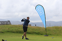 Eoghan O'Donnell (Tralee) on the 1st tee during the Munster Final of the AIG Barton Shield at Tralee Golf Club, Tralee, Co Kerry. 12/08/2017<br /> Picture: Golffile | Thos Caffrey<br /> <br /> <br /> All photo usage must carry mandatory copyright credit     (&copy; Golffile | Thos Caffrey)