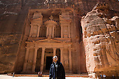 United States President Barack Obama views the area near the Treasury during a walking tour of the ancient city of Petra in Jordan, March 23, 2013. .Mandatory Credit: Pete Souza - White House via CNP