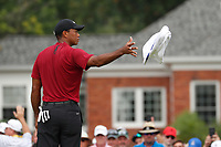 Tiger Woods (USA) catches a towel from his caddie on the 5th hole during the final round of the 100th PGA Championship at Bellerive Country Club, St. Louis, Missouri, USA. 8/12/2018.<br /> Picture: Golffile.ie | Brian Spurlock<br /> <br /> All photo usage must carry mandatory copyright credit (&copy; Golffile | Brian Spurlock)