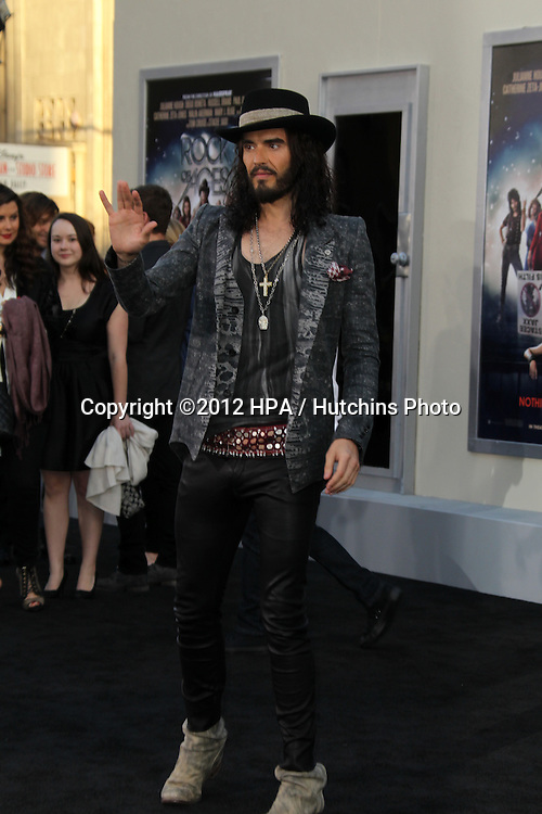 """LOS ANGELES - JUN 8:  Russell Brand arriving at """"Rock of Ages"""" World Premiere at Graumans Chinese Theater on June 8, 2012 in Los Angeles, CA"""