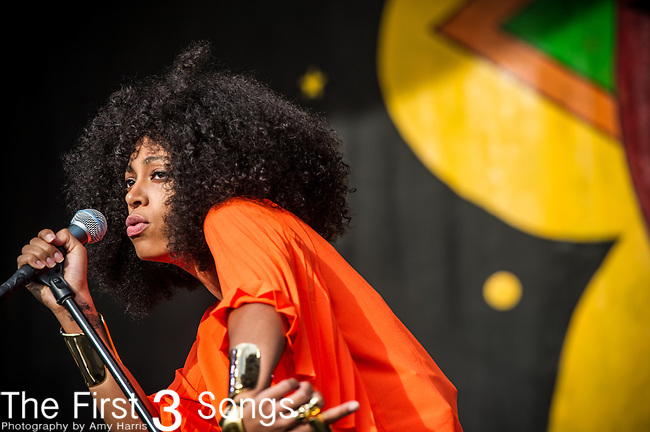 Solange performs during the New Orleans Jazz & Heritage Festival in New Orleans, LA.