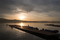 Varese. Lombardia. ITALY. General View. Varese Rowing Club. [Canottieri Varese] Province of Varese.  Sunset <br /> <br /> Monday  02/01/2017<br /> <br /> [Mandatory Credit; Peter Spurrier/Intersport-images]<br /> <br /> <br /> LEICA CAMERA AG - LEICA Q (Typ 116) - 1/3200 - f4