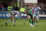 Henry Fa'afili bursts through the Blues defence..RaboDirect Pro12.Cardiff Blues v Connacht.Cardiff Arms Park..10.02.12.©Steve Pope