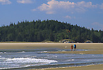 People on Popham Beach, Popham Beach State Park, Phippsburg, Maine, USA