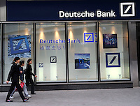 A new branch of Deutsche Bank in Beijing CBD. .