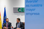 Pablo Casado during the meeting with the directive boarding of Cepyme in Madrid. October 15, 2019. (ALTERPHOTOS/Francis González)