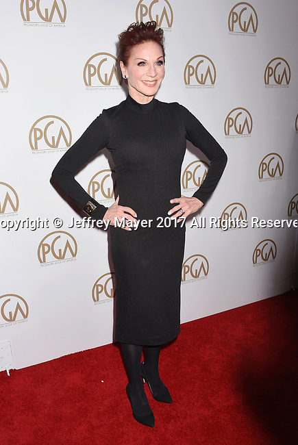 HOLLYWOOD, CA - JANUARY 28: Actress Marilu Henner arrives at the 28th Annual Producers Guild Awards at The Beverly Hilton Hotel on January 28, 2017 in Beverly Hills, California.