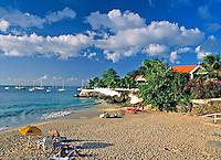 TTO, Trinidad & Tobago, Commonwealth, Tobago, Store Bay: frequented beach next to Coco Reef Hotel | TTO, Trinidad & Tobago, Commonwealth, Tobago, Store Bay: beliebter Strand neben dem Coco Reef Hotel