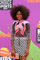 LOS ANGELES - July 13:  Riele Downs at the Nickelodeon Kids' Choice Sports Awards 2017 at the Pauley Pavilion on July 13, 2017 in Westwood, CA