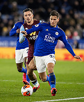 Leicester City's Dennis Praet competing with Aston Villa's Jack Grealish (left) <br /> <br /> Photographer Andrew Kearns/CameraSport<br /> <br /> The Premier League - Leicester City v Aston Villa - Monday 9th March 2020 - King Power Stadium - Leicester<br /> <br /> World Copyright © 2020 CameraSport. All rights reserved. 43 Linden Ave. Countesthorpe. Leicester. England. LE8 5PG - Tel: +44 (0) 116 277 4147 - admin@camerasport.com - www.camerasport.com