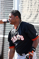 Michael Sandoval - San Francisco Giants 2010 minor league spring training. The brother of Giants star Pablo Sandoval was invited to minor league camp..Photo by:  Bill Mitchell/Four Seam Images.