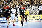 10.01.2019, Mercedes Benz Arena, Berlin, GER, Handball WM 2019, Deutschland vs. Korea, im Bild <br /> Patrick Groetzki (GER #24), Hendrik Pekeler (GER #13)<br /> PARK Young Jun (Korea #17)<br /> <br />      <br /> Foto © nordphoto / Engler