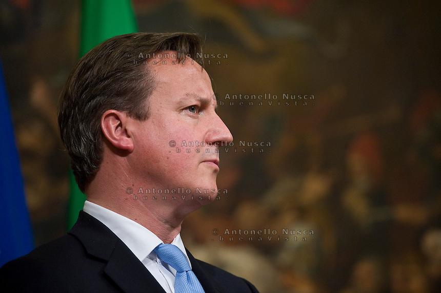 Roma, 12 Novembre, 2012. Il Primo Ministro Inglese David Cameron