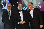 © Joel Goodman - 07973 332324 . 03/03/2016 . Manchester , UK . Michael Hardacre , president of Manchester Law Society , winner medium law firm - Turner Parkinson - Mark Openshaw-Blower (centre) . The Manchester Legal Awards from the Midland Hotel . Photo credit : Joel Goodman