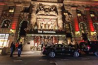 america,New York,  Manhattan, Christmas lights at Peninsula Hotel