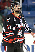 Justin Daniels (Northeastern - 11) - The visiting Northeastern University Huskies defeated the University of Massachusetts-Lowell River Hawks 3-2 with 14 seconds remaining in overtime on Friday, February 11, 2011, at Tsongas Arena in Lowelll, Massachusetts.