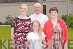 ST BRENDAN: Enjoying the St Brendan's Church Corpus Christi Procession on Sunday l-r: Caroline Quirke, Fr Patsy Lynch, Norella Quirke and Eileen Quirke.