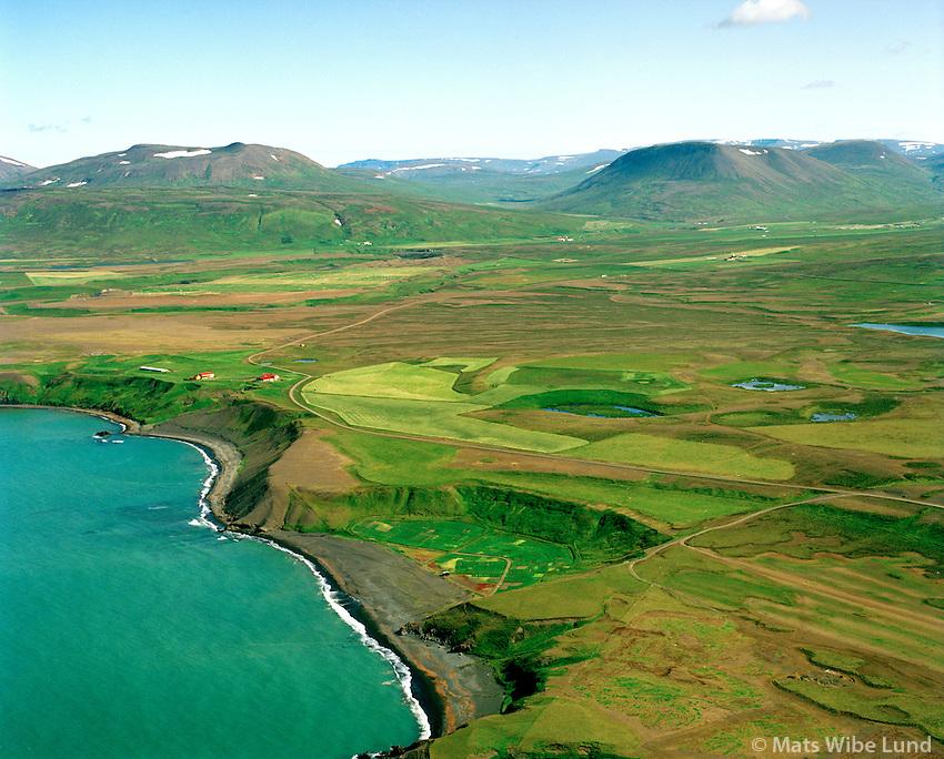 Sölvabakki séð til austurs, Blönduósbær áður Engihlíðarhreppur / Solvabakki viewing east, Blonduosbaer former Engihlidarhreppur.