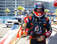 Oct 28, 2017; Las Vegas, NV, USA; NHRA top fuel driver Doug Kalitta during qualifying for the Toyota National at The Strip at Las Vegas Motor Speedway. Mandatory Credit: Mark J. Rebilas-USA TODAY Sports