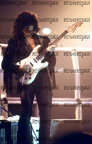 DEEP PURPLE - guitarist Ritchie Blackmore - performing live on the 25th Anniversary World Tour aka The Battle Rages On Tour at the Palatrussasrdi in Milan Italy - 26 Sep 1993.  Photo credit: George Chin/IconicPix