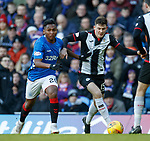 02.02.2019: Rangers v St Mirren: Alfredo Morelos and Jack Baird
