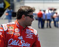 Apr 24, 2009; Talladega, AL, USA; NASCAR Sprint Cup Series driver Tony Stewart during practice for the Aarons 499 at Talladega Superspeedway. Mandatory Credit: Mark J. Rebilas-