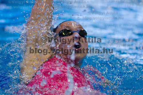 Evelin Verraszto of Hungary competes in the preliminary of Women's 200m Individual Medley of the 31th European Swimming Championships in Debrecen, Hungary on May 23, 2012. ATTILA VOLGYI