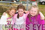 Celine Ashe, Lauren Ashe and Ann Marie Ladden Keel enjoying the Vintage show in Keel on Sunday..