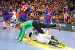 VELUX EHF 2017/18 EHF Men's Champions League Last 16.<br /> FC Barcelona Lassa vs Montpellier HB: 30-28.<br /> Ludovic Fabregas &amp; Perez de Vargas.