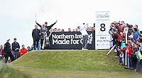 27 May 2015; Rory McIlroy tees off at the 8th<br /> <br /> Dubai Duty Free Irish Open Golf Championship 2015, Pro-Am. Royal County Down Golf Club, Co. Down. Picture credit: John Dickson / DICKSONDIGITAL