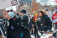 Occupy Wall Street marches from Washington Square to Union Square to support Universal Single Payer Healthcare in New York State