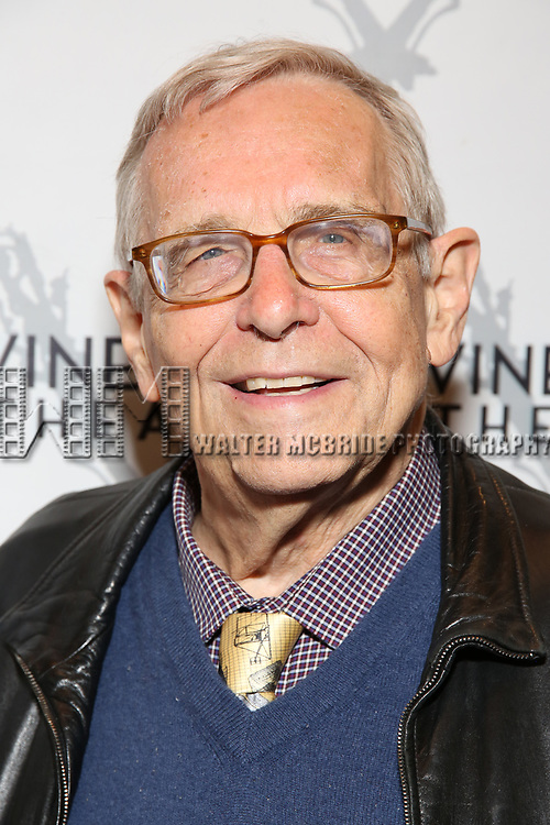 """Richard Maltby attending the Opening Night Performance for The Vineyard Theatre production of  """"Do You Feel Anger?"""" at the Vineyard Theatre on April 2, 2019 in New York City."""