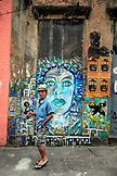 BRAZIL, Rio de Janiero, street art located along Santa Theresa Street