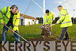 Community employment scheme workers at Ballydonoghue GAA club in north Kerry on wednesday, Pictured from left: John Moran, Donal Foley and John O'Connor.